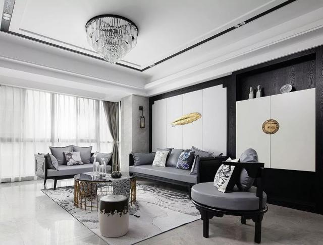 中式 三居室 126.0平米