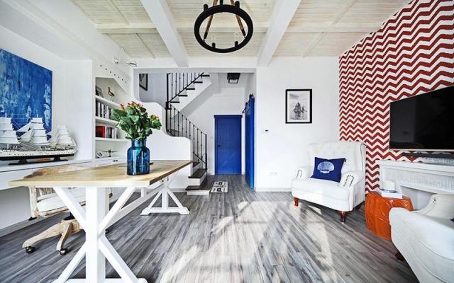 地中海 三居室 189.0平米